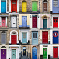 32 Front Doors Horizontal Collage  by Richard Thomas