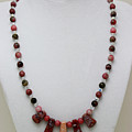3541 Rhodonite And Jasper Necklace by Teresa Mucha