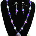 3547 Purple Veined Agate Set by Teresa Mucha