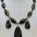 3602 Dragons Blood Jasper Necklace by Teresa Mucha