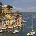 Portofino In The Italian Riviera In Liguria Italy by David Smith