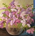 A Bowl Full Of Lilacs by Aurelia Nieves-Callwood