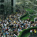 A Crowd Gathers Around Keenelands by Melissa Farlow