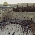 A Crowd Gathers Before The Wailing Wall by James L. Stanfield