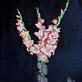 A Cutting Of Gladiolas by Jim Phillips