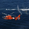 A Helicopter Crew Trains Off The Coast by Stocktrek Images