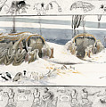 A Painting Depicts Ice Age People by Jack Unruh