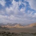 A Panoramic View Of The Wadi Rum Region by Gordon Wiltsie