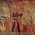 A Relief Of Men Carrying Myrrh Trees by Kenneth Garrett