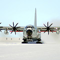 A Ski-equipped Lc-130 Hercules by Stocktrek Images