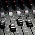 A Sound Mixing Board, Close-up, Full Frame by Tobias Titz