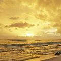 A Sunrise Over Oahu Hawaii by Michael Peychich