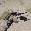 A U.s. Marine Zeros His M107 Sniper by Stocktrek Images