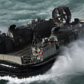 A U.s. Navy Landing Craft Air Cushion by Stocktrek Images