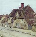 A Village Street Kent by Helen Allingham