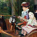 A Woman And Child In The Driving Seat by Mary Stevenson Cassatt