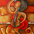 A Woman And Her Violin by Marta Giraldo