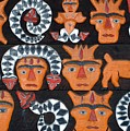 Aboriginal Painted Wood Carvings by Yali Shi