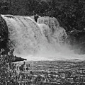 Abrams Falls Cades Cove Tn Black And White by DigiArt Diaries by Vicky B Fuller