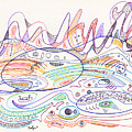 Abstract Drawing Nineteen by Lynne Taetzsch