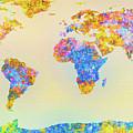 Abstract Earth Map 2 by Bob Orsillo