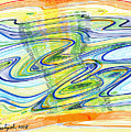 Abstract Pen Drawing Forty-one by Lynne Taetzsch