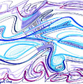Abstract Pen Drawing Forty-two by Lynne Taetzsch