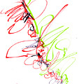 Abstract Pen Drawing Seventy by Lynne Taetzsch