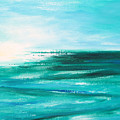 Abstract Sunset In Blue And Green 2 by Gina De Gorna