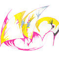 Abstract Swan by Mary Mikawoz