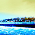 Across The Dam To Boathouse Row. by Bill Cannon