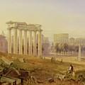 Across The Forum - Rome by Hugh William Williams