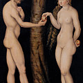 Adam And Eve In The Garden Of Eden by The Elder Lucas Cranach