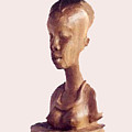 African Woman Bust by Emmanuel Baliyanga