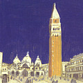After St. Mark's Square Towards The Basilica by Hyper - Canaletto