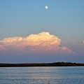 Afternoon Moon - Apalachicola Bay by Mark  Stratton