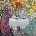 Afternoon Tea by Richard Edward Miller