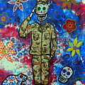 Air Force Day Of The Dead by Pristine Cartera Turkus