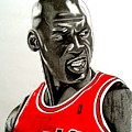 Air Jordan Raging Bull Drawing by Keeyonardo