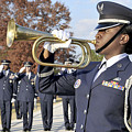 Airman Plays Taps During The Veterans by Stocktrek Images