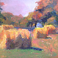 Airmont Hay Bales Morning by Timothy Chambers