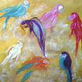 All Dressed Up - Parrots by Michela Akers
