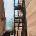 Alley W Fire Escape by Anita Burgermeister