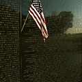 American Flag Left At The Vietnam by Medford Taylor