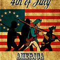 American Revolution Soldier Vintage by Aloysius Patrimonio