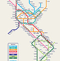 Americas Metro Map by Michael Tompsett