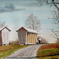 Amish Corncribs by Faye Ziegler