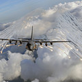 An Ac-130u Gunship Jettisons Flares by Stocktrek Images
