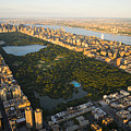 An Aerial View Of Central Park by Michael S. Yamashita
