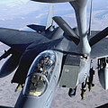 An F-15e Strike Eagle Refuels Over Iraq by Stocktrek Images
